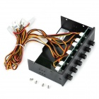 "Akasa AK-FC-08BKV2 5.25"" 30W 6-Channel Cooling Fan Speed Controller for PC - Black"
