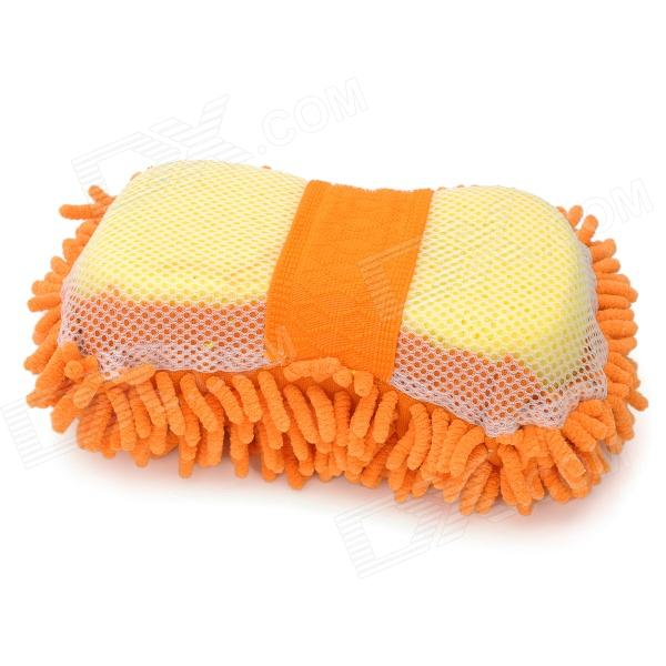 KTM001 Chenille Fiber Car Washing Gloves Sponge Pad - Orange