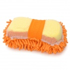 Chenille Fiber Car Washing Gloves Sponge Pad - Orange
