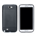 Simple Protective Plastic + PVC Back Case for Samsung Galaxy Note 2 N7100 - Black