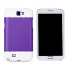 Fashion Protective PC + PVC Back Case for Samsung Galaxy Note 2 N7100 - White + Purple