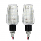 1.96W 98lm 14-LED White Light Motorrad Signal Lampe (12V / 2 PCS)