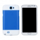 Fashion Protective PC + PVC Back Case for Samsung Galaxy Note 2 N7100 - White + Blue