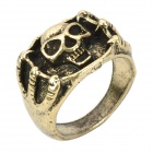 Retro Copper Alloy Skull Pattern Ring - Bronze