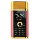 "Mini K08 GSM Lighter Mobile Phone w/ 1.0"" Screen, Quad-Band, FM and Single-SIM - Red + Golden"