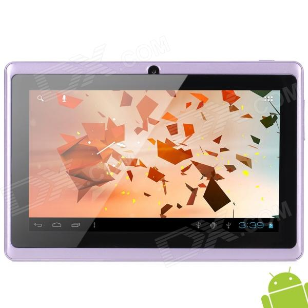 "A13 7"" Capacitive Screen Android 4.0 Tablet PC w/ TF / Wi-Fi / Camera / G-Sensor - Purple"