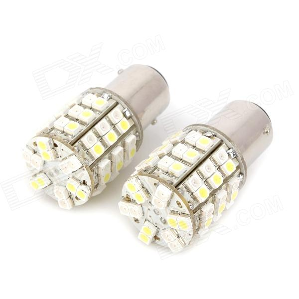 1157 5.4W OSRAM 60-1210 SMD LED Yellow + White Light Car Brake / Daytime Running Light (12V / 2 PCS) car styling led headlight brow eyebrow daytime running light drl with yellow turn signal light for kia sportage 2011 2015