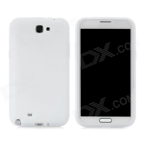 Protective Silicone Back Case for Samsung Galaxy Note 2 N7100 - White