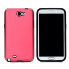 Stylish Protective Aluminum Cover Silicone Back Case for Samsung Galaxy Note 2 N7100 - Red