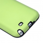 Stylish Protective Aluminum Cover Silicone Back Case for Samsung Galaxy Note 2 N7100 - Green