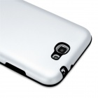 Stylish Protective Aluminum Cover Silicone Back Case for Samsung Galaxy Note 2 N7100 - Silver