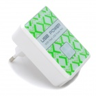 4-USB Ports AC Power Adapter for Iphone / Ipad + More - White (EU Plug / AC 100~240V)
