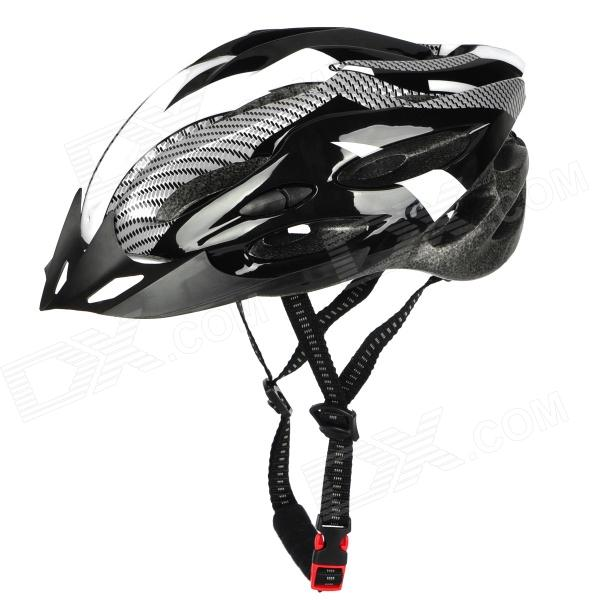 Outdoor Bike Bicycle Cycling Helmet - White + Black