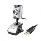 ANC C230 USB2.0 PC Camera Webcam w / 5-LED Night Vision Lights / Mikrofon - Silber + Schwarz