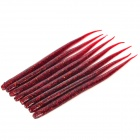 Soft PVC Lifelike Worm Style Fishing Baits - Red (8 PCS)