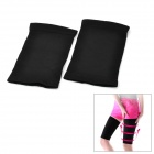 Flexible Thigh-Thinning Warmer Bands Set - Black (Pair)