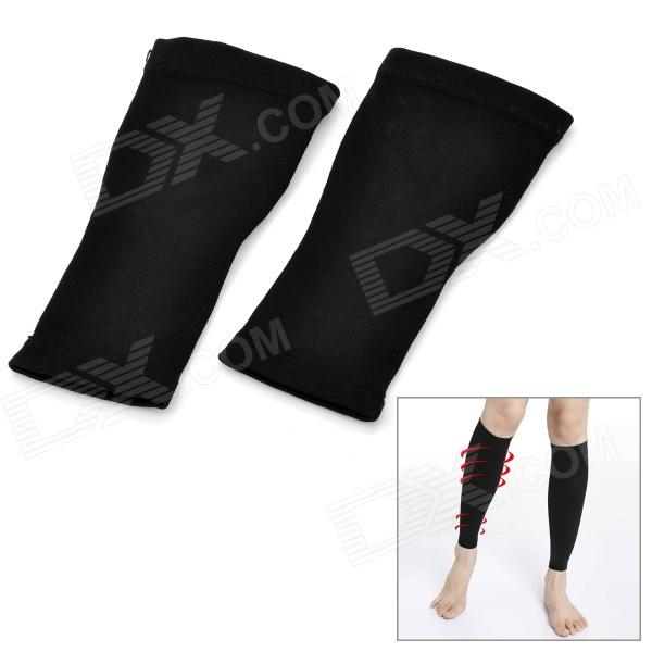 Flexible Calf-Thinning Warmer Bands Set - Black (Pair)