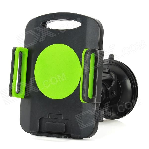 Universal 360 Degree Rotation Suction Cup Car Mount Holder for Ipad MINI + More - Green + Black jhd 12hd68 universal 360 degree rotatable car mount holder for cellphone black green