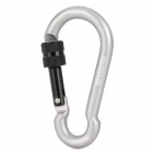 Acecamp Munkees Outdoor Sports Locking Carabiner Hook - Grey (7mm)
