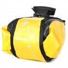 ROSWHEEL 13613-F Bike Bicycle Waterproof Saddle Bag - Yellow + Black