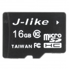 Jlike microSDHC16GB High Speed Micro SDHC / TF Memory Card - Black (16GB / Class 10)