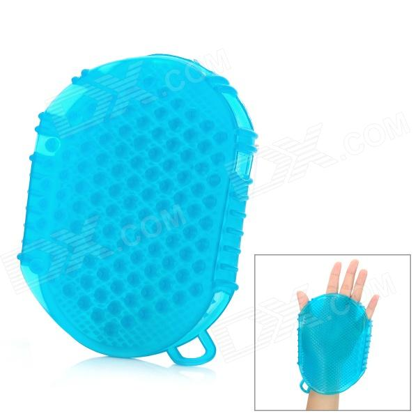 Rubber Healthy Body Massage Glove - Cyan