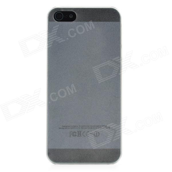 0.8mm Ultra Thin Protective Frosted PC Back Case for Iphone 5 - Translucent White
