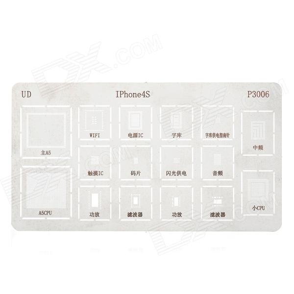 Repair Part JP3006 Planting Tin Plate for Iphone 4S - Silver