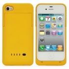 Externe 1900mAh Emergency Power Battery Charger Case für iPhone 4 / 4S - Yellow