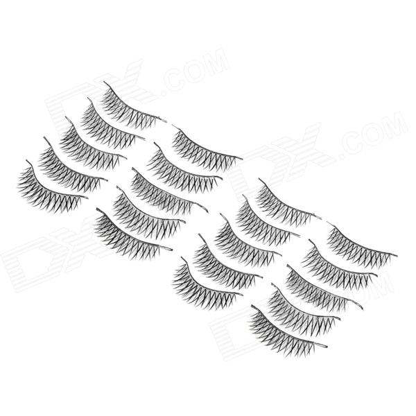 J-3 Makeup Natural Thicken Cross Artificial Eyelashes Set - Black (10 Pairs) тумба под телевизор tv 15