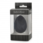 Egg Shaped Silicone Stand Audio Amplifier for Iphone 5 - Black