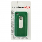 Protective Back Case w/ Opener + Direction Guider + Ruler + Screwdriver for Iphone 4 / 4S - Green
