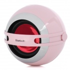 BS-110T Bluetooth V3.0 Stereo Speaker w/ Microphone - Pink