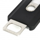 Protective Back Case w/ Opener + Direction Guider + Ruler + Screwdriver for Iphone 4 / 4S - Black