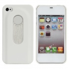 Protective Back Case w/ Opener + Direction Guider + Ruler + Screwdriver for Iphone 4 / 4S - White