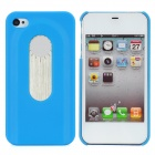 Protective Back Case w/ Opener + Direction Guider + Ruler + Screwdriver for Iphone 4 / 4S - Blue