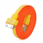 Flat USB Charging / Data Transmission Cable for iPad / iPod / iPhone - Yellow + Orange (97cm)