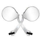 DIY Motorcycle Skull Style Rearview Mirrors - Silver (Pair)