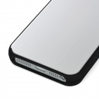 Stylish Protective Back Case for Iphone 5 - Silver + Black