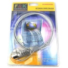 Security Combination Cable Lock for Laptop Notebook - Silver (100CM)