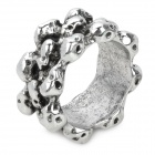 Fashion Copper Alloy Skull Decoration Ring - Silver