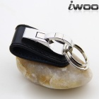 IWOO-012 Fashion Elegant Men Waist Belt Hanging Keychain - Black + Silver