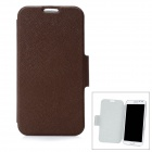 Protective PU Ledertasche für Samsung Galaxy Note 2 N7100 - Brown