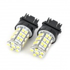 SENCART 3157 2.5W 288lm 36-SMD 3528 LED White Yellow Light Car Backup / Steering Lamp (2 PCS)