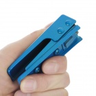 Portable Nano SIM Card Stainless Steel Cutter for iPhone 5 - Blue
