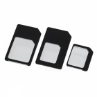 Nano SIM / Micro SIM / SIM Card Adapters Set - Black (3PCS)