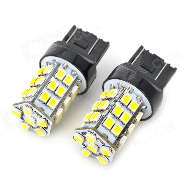 SENCART 7443 2.5W 288lm 36-SMD 3528 LED White Yellow Light Car Backup / Steering Lamp (2 PCS)