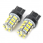 SENCART 7443 2.5W 288lm 36-SMD 3528 LED Weiß Light Car Backup / Steering Lamp (2 PCS)