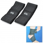 RL 5013 Classic Elastic Twining Ankle Support - Black (Pair)