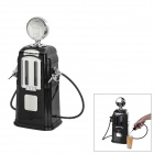 Gas Pump Style Bar Butler Doppel Pipes Beverage Liquor Dispenser - Black